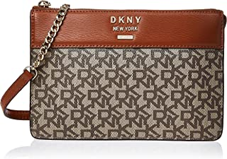 DKNY Crossbody for Women- Monogram/Brown