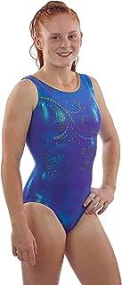Lizatards Gymnastics Leotard for Girls-Ocean Swirl | Spangle Leo in Kids, Girls' & Women's Sizes
