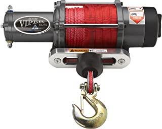 MotoAlliance VIPER Elite UTV Winch 4500lb Winch - 65 feet RED Synthetic Rope and Wireless Remote
