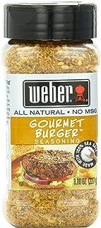 Weber Seasoning, Gourmet Burger, 8 Ounce