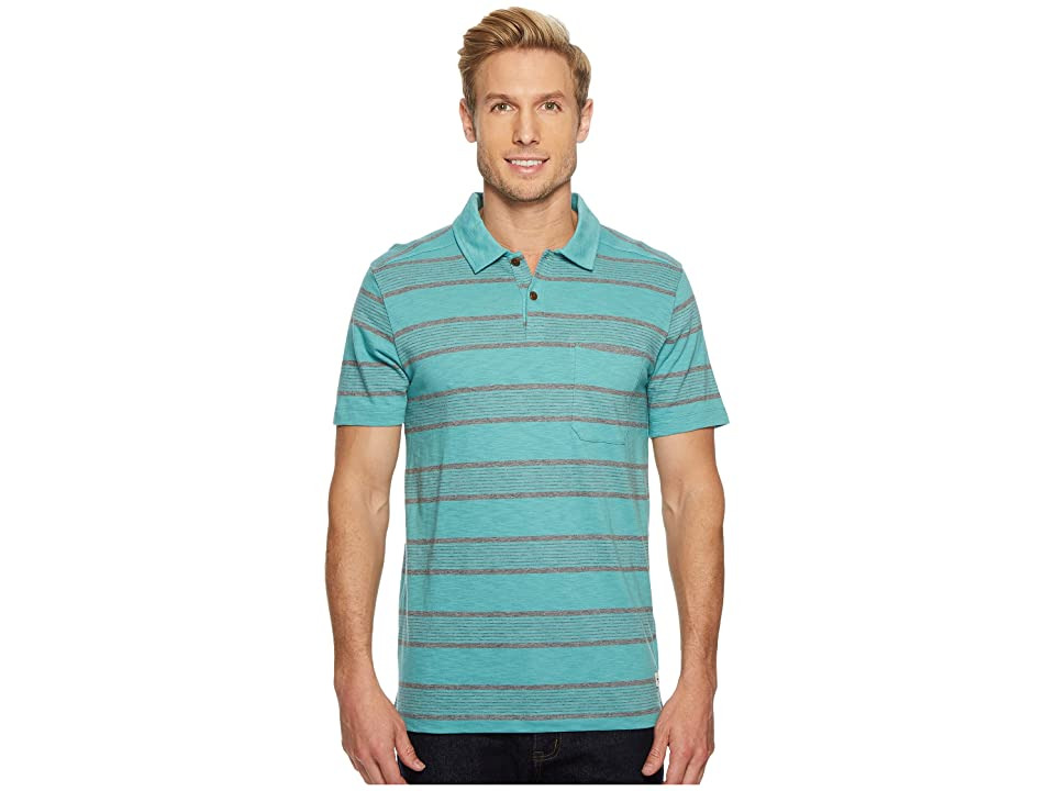 The North Face Short Sleeve Cool Canyon Polo (Bristol Blue Stripe) Men