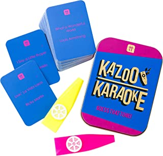 Talking Tables Kazoo Karaoke Party Game Music Trivia Cards Family Fun | 2+ Players