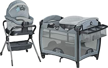 Graco Pack 'n Play Day2Dream Playard | Includes Portable Napper, Full-Size Infant Bassinet, and Diaper Changer, Layne
