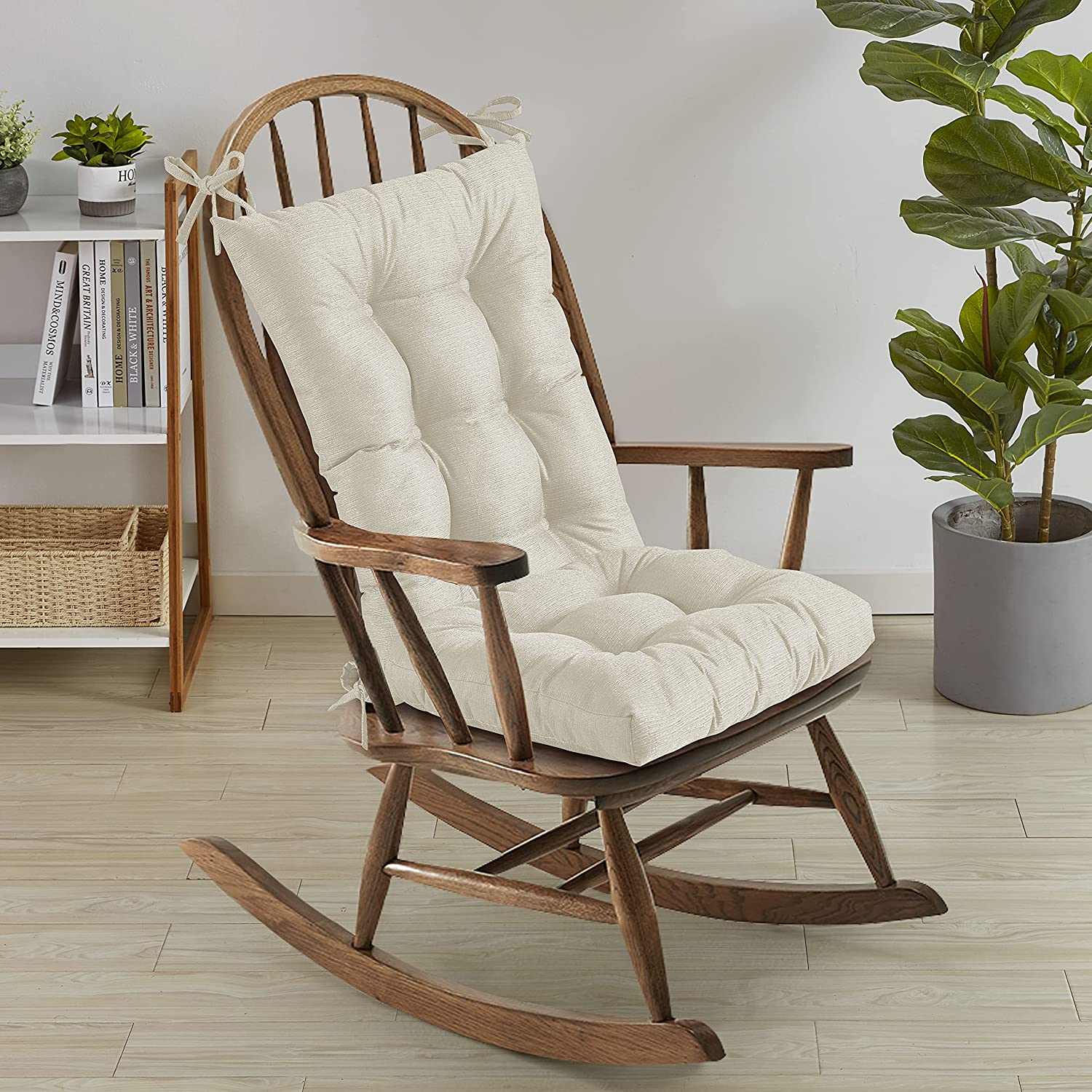 Sweet Home Collection Rocking Chair Max 81% OFF Cushion Premium Super-cheap Tufted Pads
