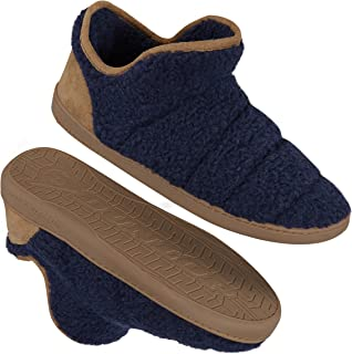 Dunlop Men's Slippers, Memory Foam Boot Slippers with Rubber Sole, Gifts for Men