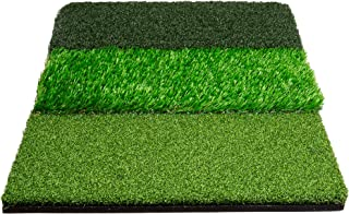 Stripe Golf Tri-Turf Golf Hitting Mat - Grass Mat for Driving and Chipping Practice - 26