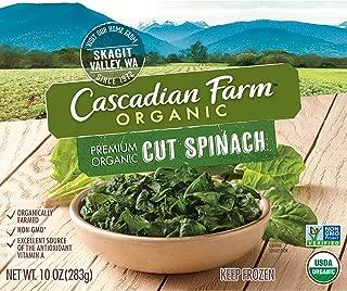 Cascadian Farm Organic Cut Spinach, 10oz Box (Frozen), Organically Farmed Frozen Vegetables, Non-GMO