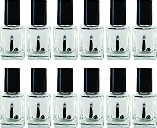 Eternal Empty Glass Nail Polish Bottles with Mixing Ball and Brush Cap – Pack of 12