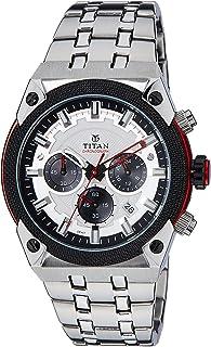 ساعة بمينا رمادي بعرض انالوج للرجال من تيتان