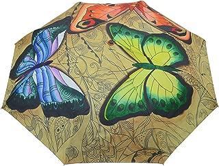 "Anuschka Umbrella AUTO Open/Close | UPF 50+ | 38"" Waterproof Windproof Canopy"