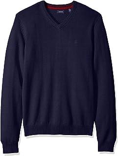 IZOD Men's Premium Essentials Solid V-Neck 12 Gauge Sweater