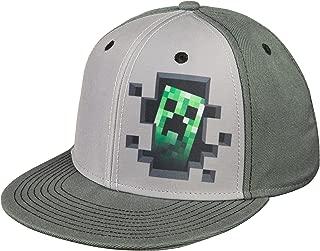 JINX Minecraft 'Creeper Inside' Adult Snapback Baseball Hat (Gray, Adult Size)
