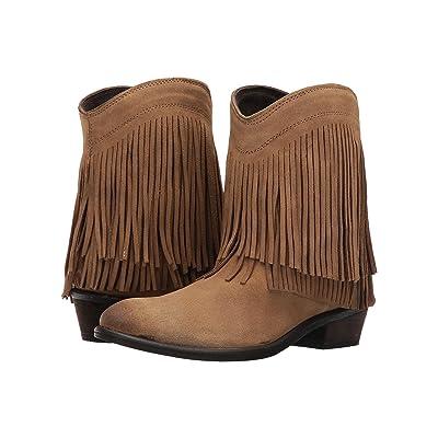 Roper Fringe Shorty (Tan Suede) Cowboy Boots
