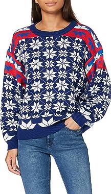 Wrangler Alpine Rainbow Knit Sweat-Pullover Femme