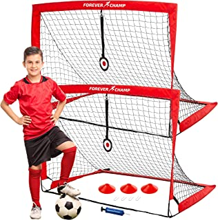 Forever Champ Soccer Net with Target, Cones & Pump - 4x3...