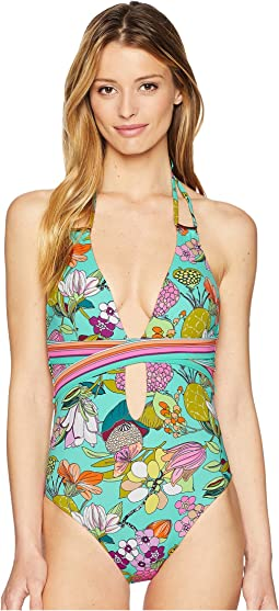 Key West Botanical Plunge One-Piece