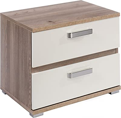 40 x 52 x 35 cm con 2 cassetti Colore Cambria e Bianco Studio Decor Comodino Cali