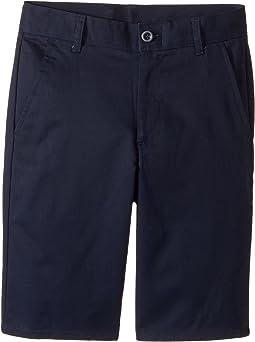 Regular Flat Front Twill Shorts (Big Kids)