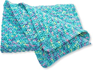 Teal Hand Crocheted Baby Blanket