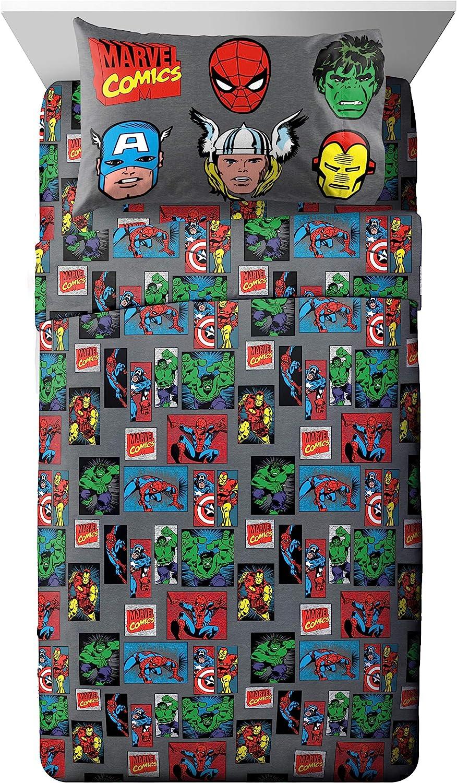 Jay Franco Marvel Avengers 3 Piece Superheroes Brand Dedication Cheap Sale Venue G Sheet Set Twin
