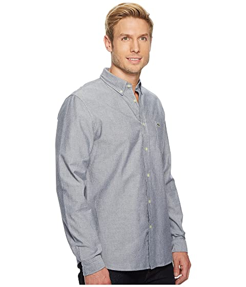 75092c21f Lacoste Long Sleeve Oxford Button Down Collar Regular at Zappos.com