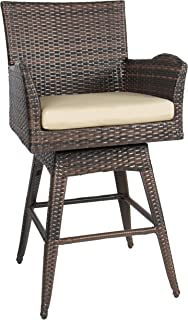Fantastic Best Wicker Swivel Bar Stools Of 2019 Top Rated Reviewed Andrewgaddart Wooden Chair Designs For Living Room Andrewgaddartcom