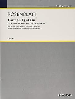 ローゼンブラット : カルメン幻想曲 (クラリネット、ピアノ) ショット出版