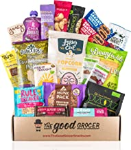 Healthy VEGAN Snacks Care Package: Non-GMO, Vegan Jerky, Snack Bars, Protein Cookies, Crispy Fruit, Nuts, Healthy Gift Bas...