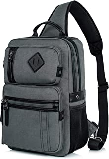 Messenger Bag for Men, Cross Body Shoulder Sling Bag Travel Outdoor Gym Backpack Gray 1