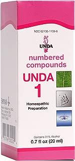 UNDA - UNDA 1 Numbered Compounds - Homeopathic Preparation - 0.7 fl oz (20 ml)