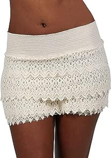 Women's Lace Shorts Casual Cotton Crochet Summer Beach Miniskirts