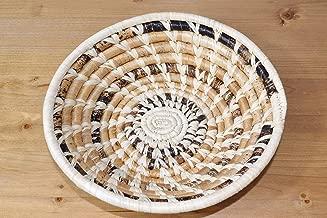 Small Hand Woven African Basket - 8 Inches Banana Fiber Basket - Handmade in Uganda, SRB105