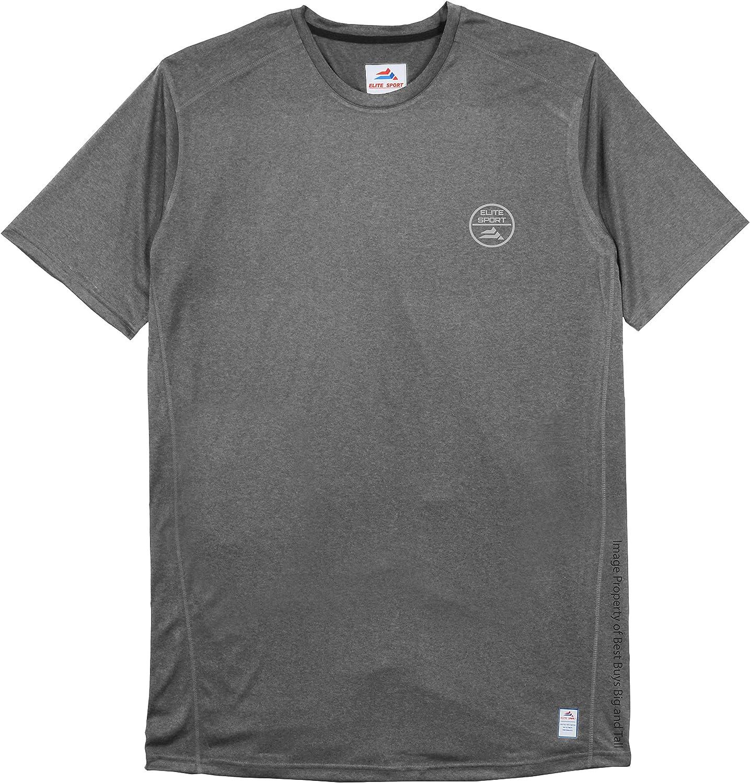Elite Sport Big & Tall Men's Lightweight Performance T-Shirt with Chest Logo