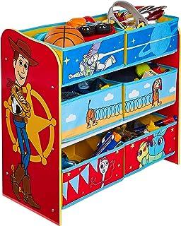 Pixar Toy Story 4 Étagère de Rangement pour Jouets avec 6 caisses pour Enfants, 30x63,5x60