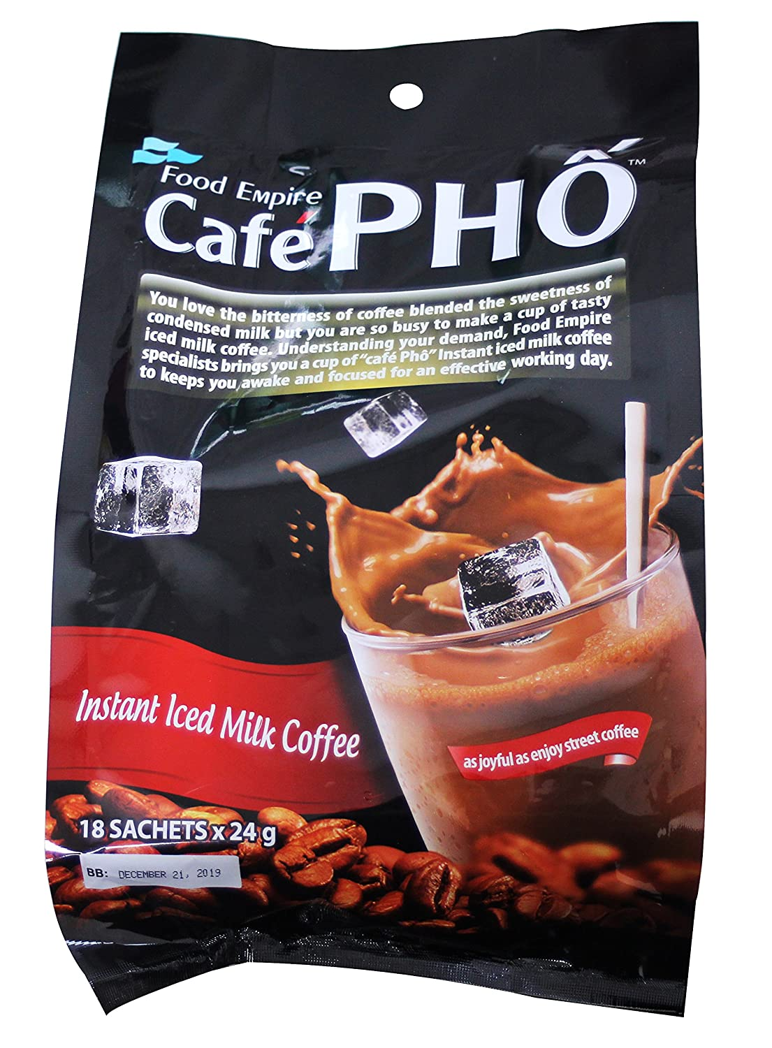 Cafe Pho instant Overseas parallel import regular item iced sachets 18 Coffee Sales for sale Milk
