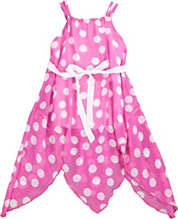 LELEFORKIDS - Toddlers and Girls (2T-7/8) All The Polka Dots Handkerchief Chiffon Dress