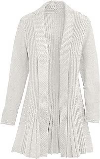 Cardigans for Women Long Sleeve Swingy Sequin Knit Cardigan Sweater W/Pocket