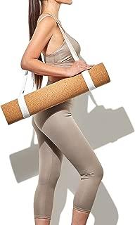 BASICALLY PERFECT Yoga Mat Sling, Organic Cotton & Hemp, Adjustable 2 in 1 Yoga Mat Carrier/Yoga Strap/Carrying Strap