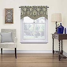 """WAVERLY الستائر للنوافذ - قاعة كليفتون 52"""" x 18"""" ستارة قصيرة نافذة ستائر الحمام ، غرفة المعيشة والمطابخ ، الكتان"""