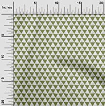 oneOone Viscose Chiffon Fabric Geometric Block Printed Craft Fabric by The Meter 42 Inch Wide