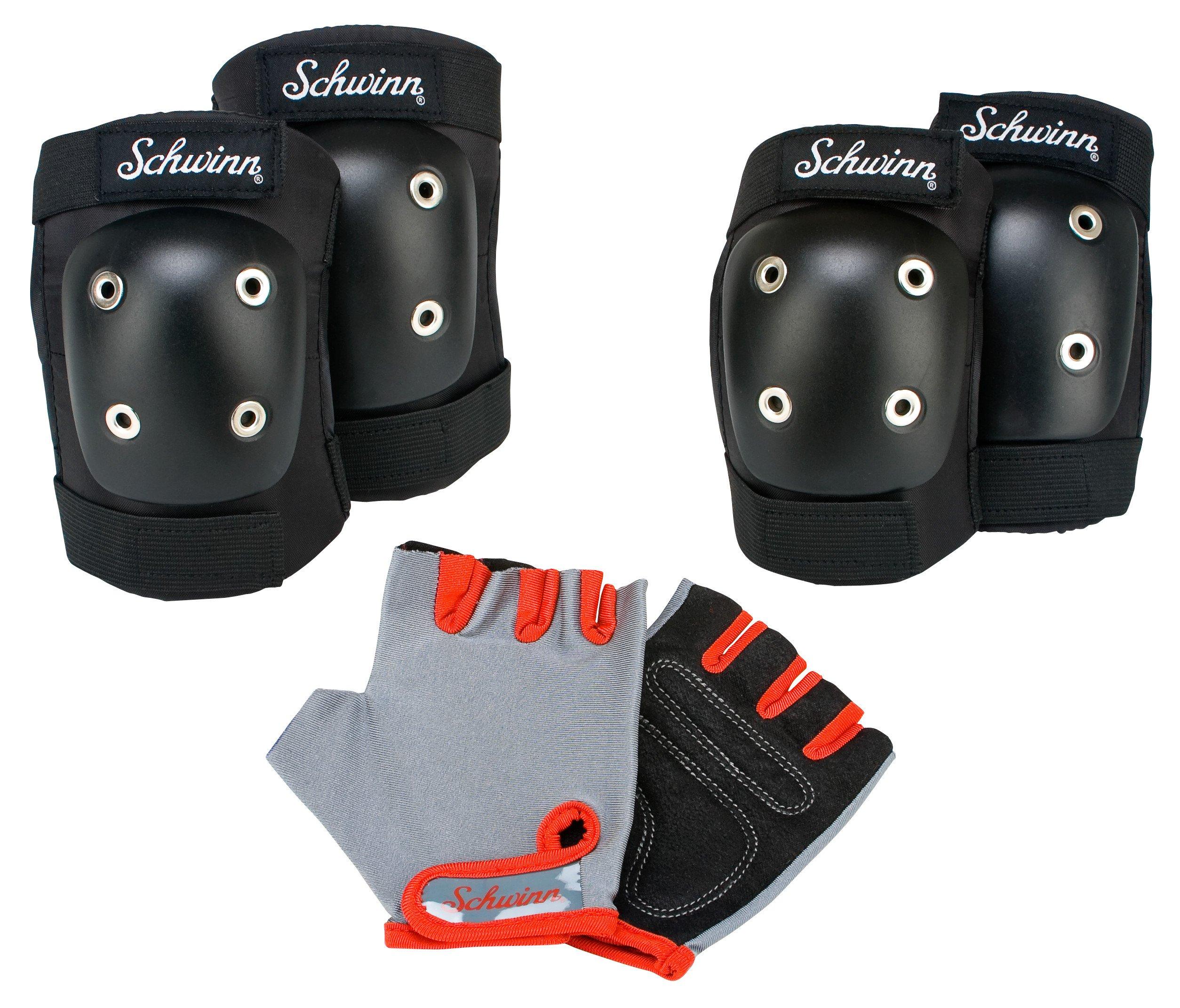 Schwinn Kids Protective Bike Gloves, Knee and Elbow Pads