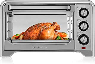 Chefman Toaster Oven, Countertop Convection Stainless Steel Oven W/Variable Temperature Control; Large 6 Slice; 6 Cooking Functions: Bake, Broil, Convection, Toast, Keep Warm & Defrost