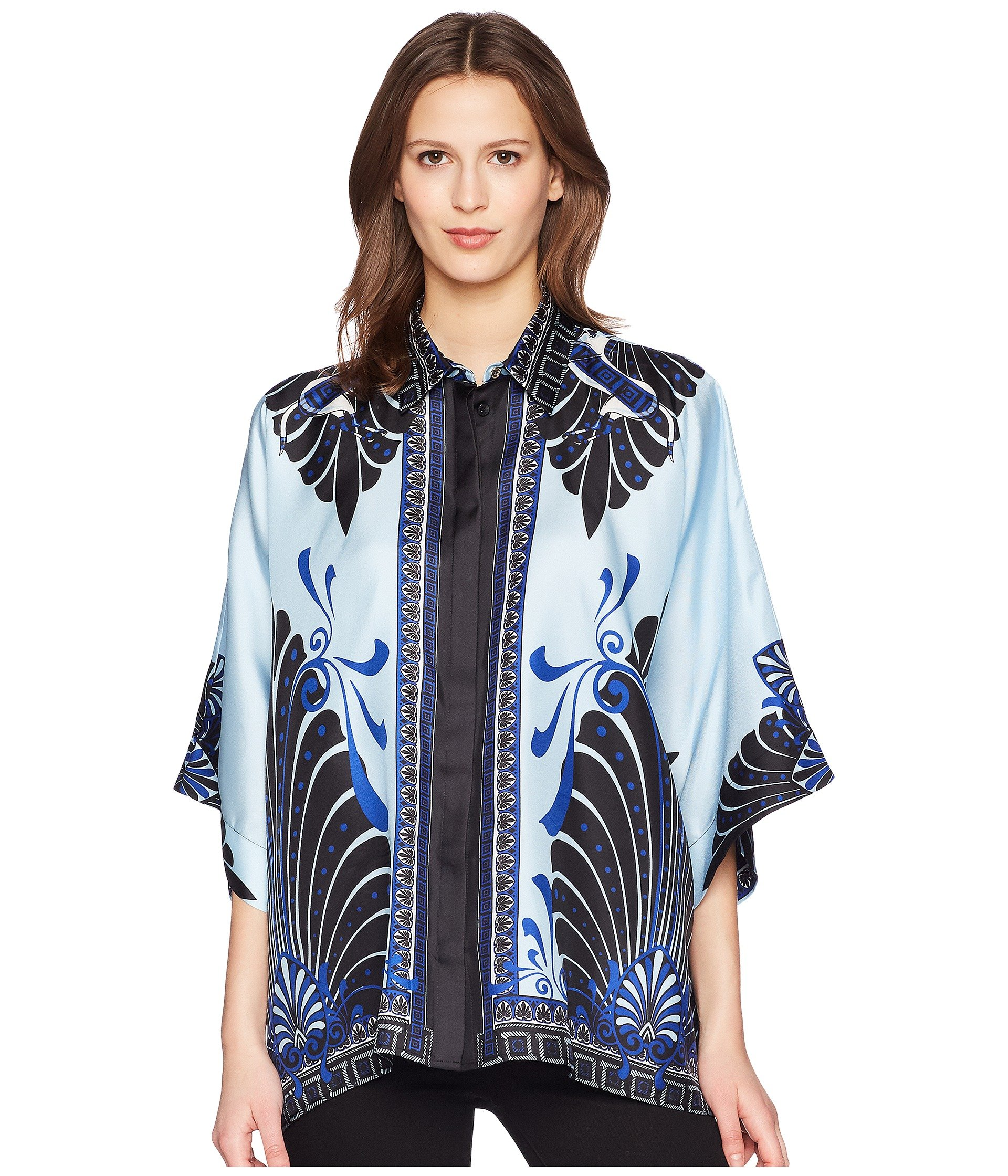Blusa para Mujer Versace Collection Camicia Donna Tessuto Three-quarter Sleeve Shirt  + Versace en VeoyCompro.net