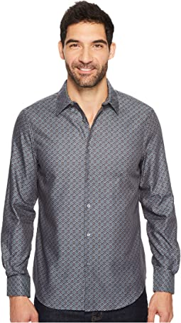 Perry Ellis - Long Sleeve Wave Printed Shirt