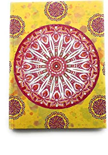 A5 Mandala Notebook (Bright Yellow)