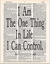 I am the One Thing in Life I Can Control, Hamilton Quote, Dictionary Page Art Print, 8x11 inches, Unframed