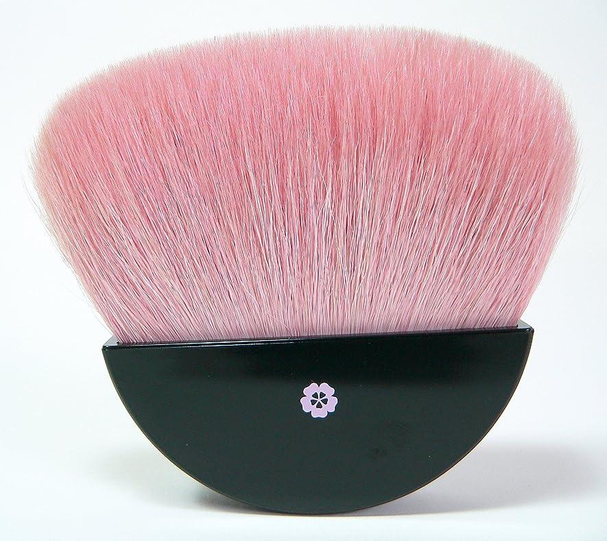 オリエンタルの間で防ぐ熊野筆 桜柄, 扇型フェイスブラシ (パウダーブラシ)