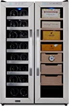 Whynter CWC-351DD Freestanding 3.6 cu. ft. Wine Center Cigar Cooler Humidor, One Size, Stainless Steel/Black