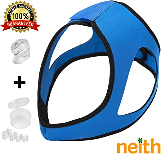 Anti Snoring Chin Strap Kit   Includes All Anti Snoring Devices for Better Sleep   Anti Snoring Solutions Sleep Aid   Adjustable for Men and Women   Anti Snoring Tongue Device & Nasal Dilators (Blue)