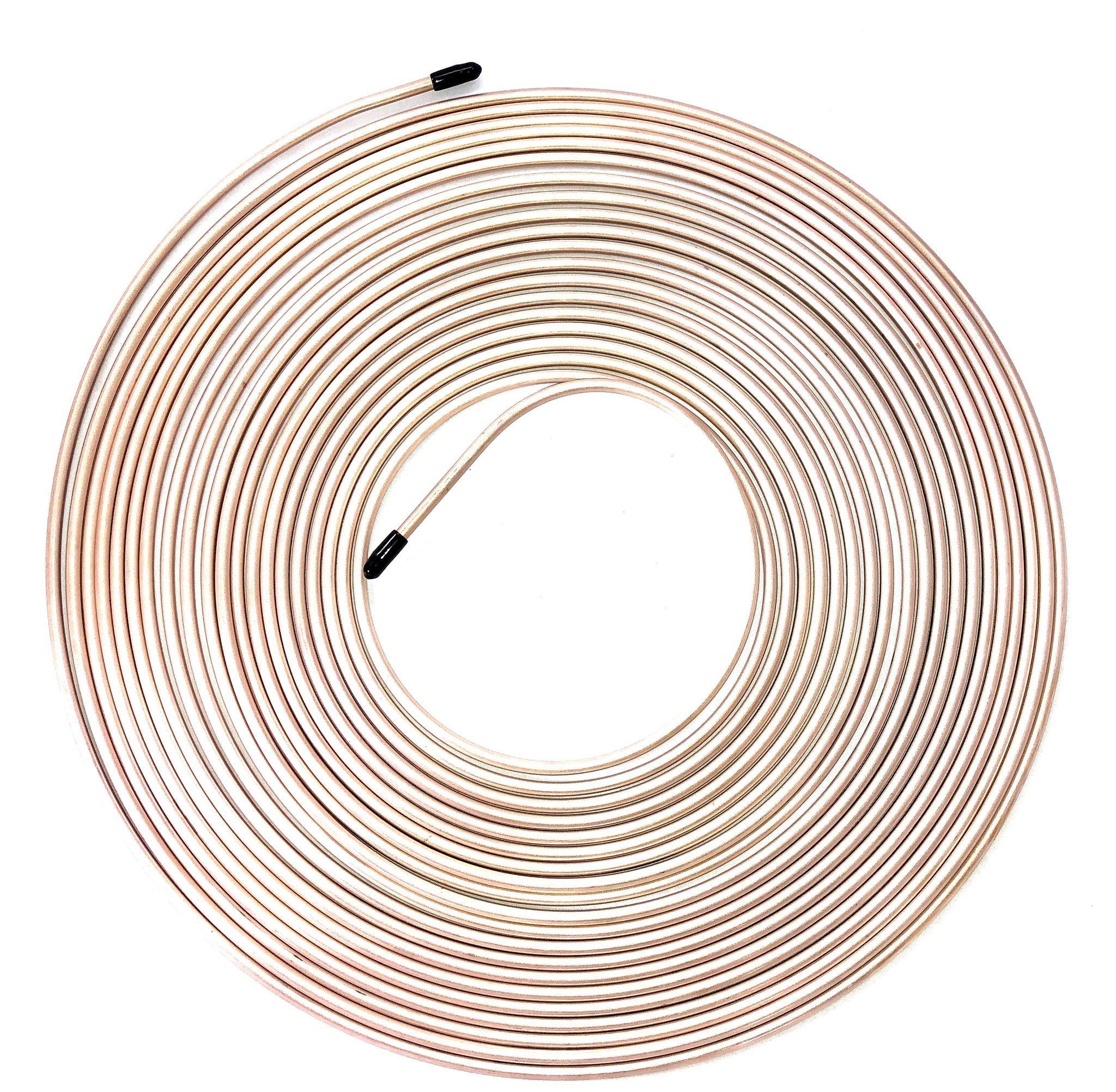 50 Ft Roll of 3//16 Copper Nickel Brake Line Tubing
